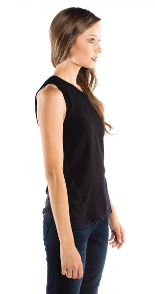 Splendid Boxy Tank in Black