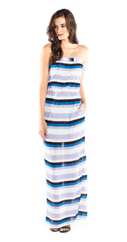 Splendid Horizon Stripe Maxi Dress in Violet Ice