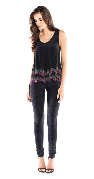 Nicole Miller Beaded Fringe Top