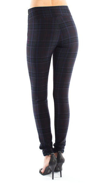 Nicole Miller Stretch Plaid Pant