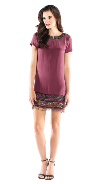 Nicole Miller Baba Fringe Dress