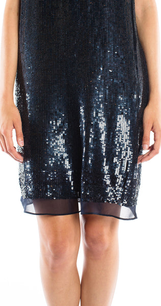 Shoshanna Sequin Leandra Minidress in Indigo