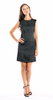 Shoshanna Anna Dress in Black/Mint