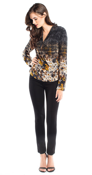 Tracy Reese Shawl Surplice Top