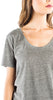 Velvet by Graham & Spencer Albie Heather Gray V-Neck Tee