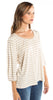 Ella Moss Stripe Top in Oatmeal