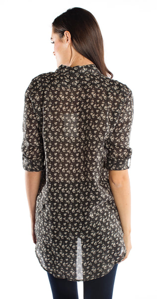 MiH The Slim Shirt in Floral Dark Leo