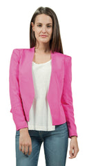rebecca taylor refined suiting jacket in fuchsia