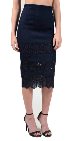 Rebecca Taylor Diamond Lace Skirt