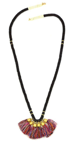 Sylvia Benson Crosby Necklace in Kaleidoscope with Carob