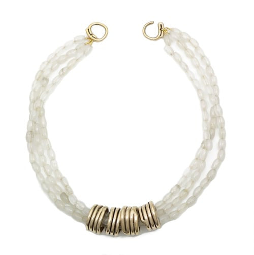 Sylvia Benson Multi-Strand Entwine Necklace in Grey Quartz