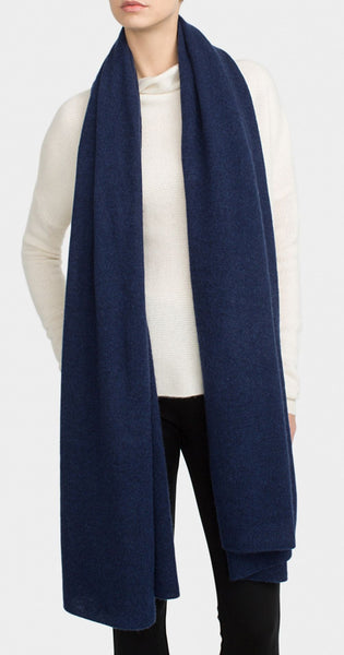 White + Warren Cashmere Travel Wrap in Admiral Heather