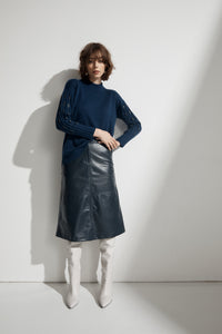 RAW BY RAW Gaia Leather Skirt