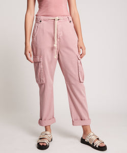 ONE TEASPOON Dirty Pink Cargo Safari Mid Waist Relaxed pant