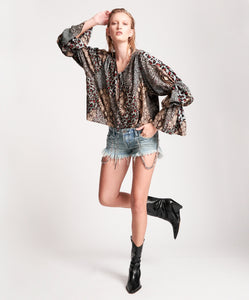 ONE TEASPOON Punk Python Sophisticated Savage Top
