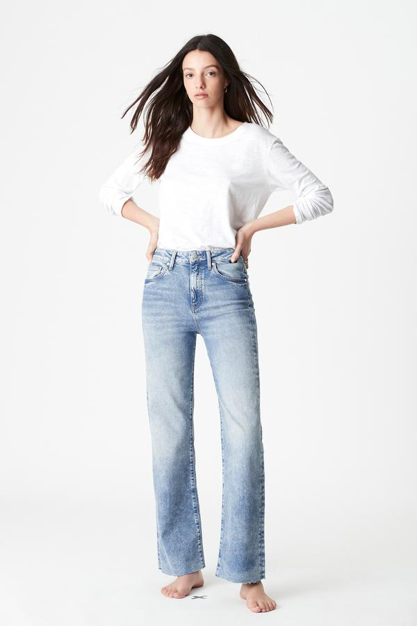 Mavi Victoria Wide Straight Jeans in Mid 90s