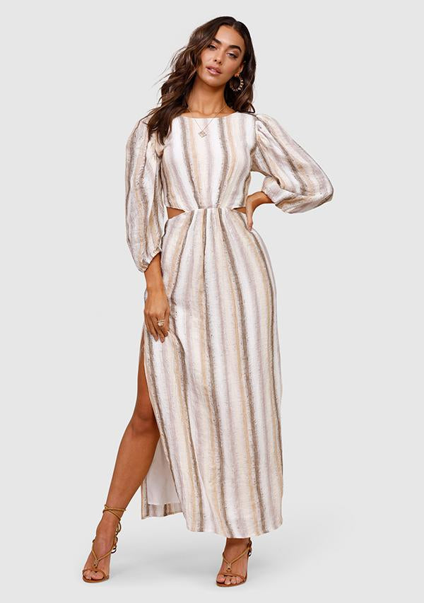 MINISTRY OF STYLE Seventies Soul Stripe Maxi Dress
