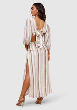 Load image into Gallery viewer, MINISTRY OF STYLE Seventies Soul Stripe Maxi Dress
