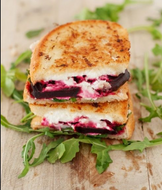 Beetroot, Goats Cheese & Rocket Sandwich