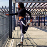 Shop2Go Mesh Geometric Print Active wear Leggings