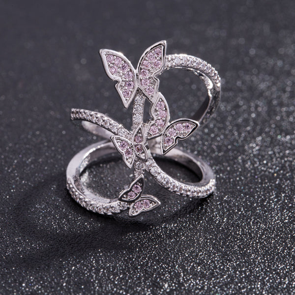 Shop2Go New Designer Butterfly Ring