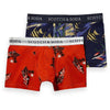 2-Pack Printed Boxer Shorts - Red
