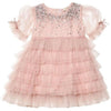 Bebe - Bijou Tulle Dress Blush