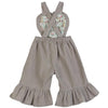 Heart Bib Overalls - Light Stone