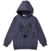 Sneaky Wolf Pocket Hood - Midnight Marle