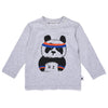 Sporty Panda Tee - Grey Marle