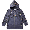 Hoot Hoot Zip Up - Midnight Marle