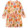 Bloom Dress - Apricot Marle