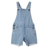 Cut Off Dungarees - Soft Blue Denim