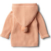 Tropical Peach Rib Knitted Jacket