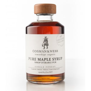 Cosman & Webb Organic Unblended Maple Syrup 250ml