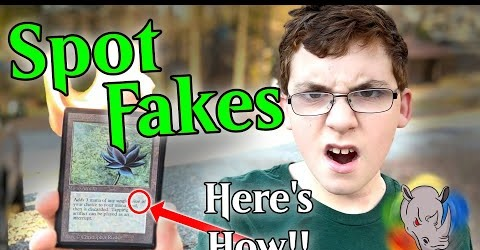 Ever wonder how to spot fake Magic cards?