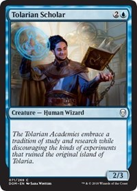 Tolarian Scholar [Dominaria] | Journey's End Games