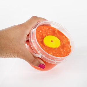 AJ Slim3rs Orange Crunchy Slime with Pink Glitter - Sunset