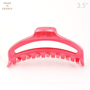 French Medium Open Pink Plastic Hair Claw