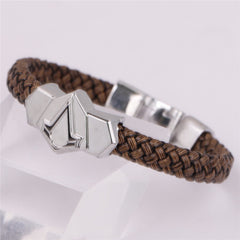 Leather Braided Bracelet - 8in