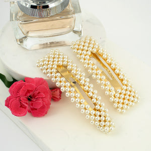 Faux Pearl Snap Clip - Set of 2