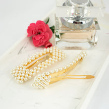 Load image into Gallery viewer, Faux Pearl Snap Clip - Set of 2