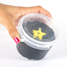Load image into Gallery viewer, AJ Slim3rs Black Slime with Gold Glitter - Starry Night