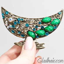 Load image into Gallery viewer, Metal Bird Style Hair Claw with Crystals