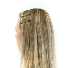 Load image into Gallery viewer, Green Side Hair Pins - Pair