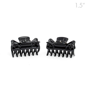 Small Unisex Black Hair Claws - Pair