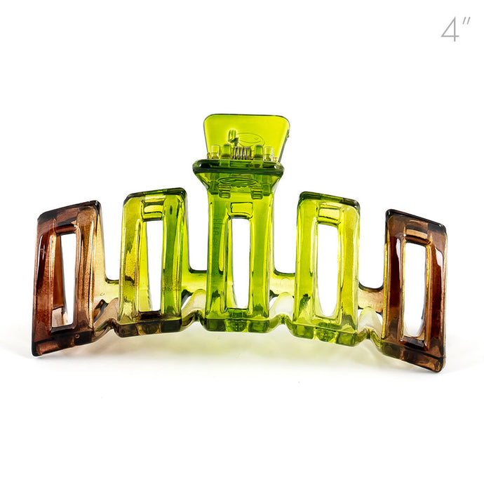 Large Two-Color Light Weight Plastic Hair Claw