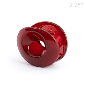 Medium Open Oval Red Plastic Hair Claw