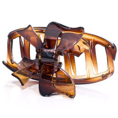 Bow Tie Cover Tortoise Shell Hair Claw