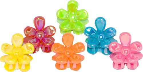 Bright Colored Ab Daisy Mini Clamps – Card of 6